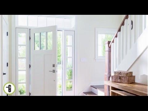 Entry Door With Deadbolt Lock Built In Sensor Setup Pella