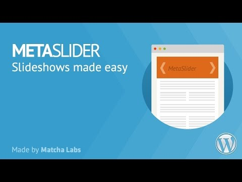 Meta Slider - Installation, Tutorial & Demonstration
