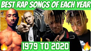 Best Rap Songs Of Each Year [1979 - 2020]