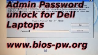 unlock dell bios admin password
