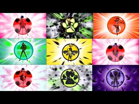 [HD_1080p] Леди Баг и Супер-кот - все трансформации (Канал Disney).