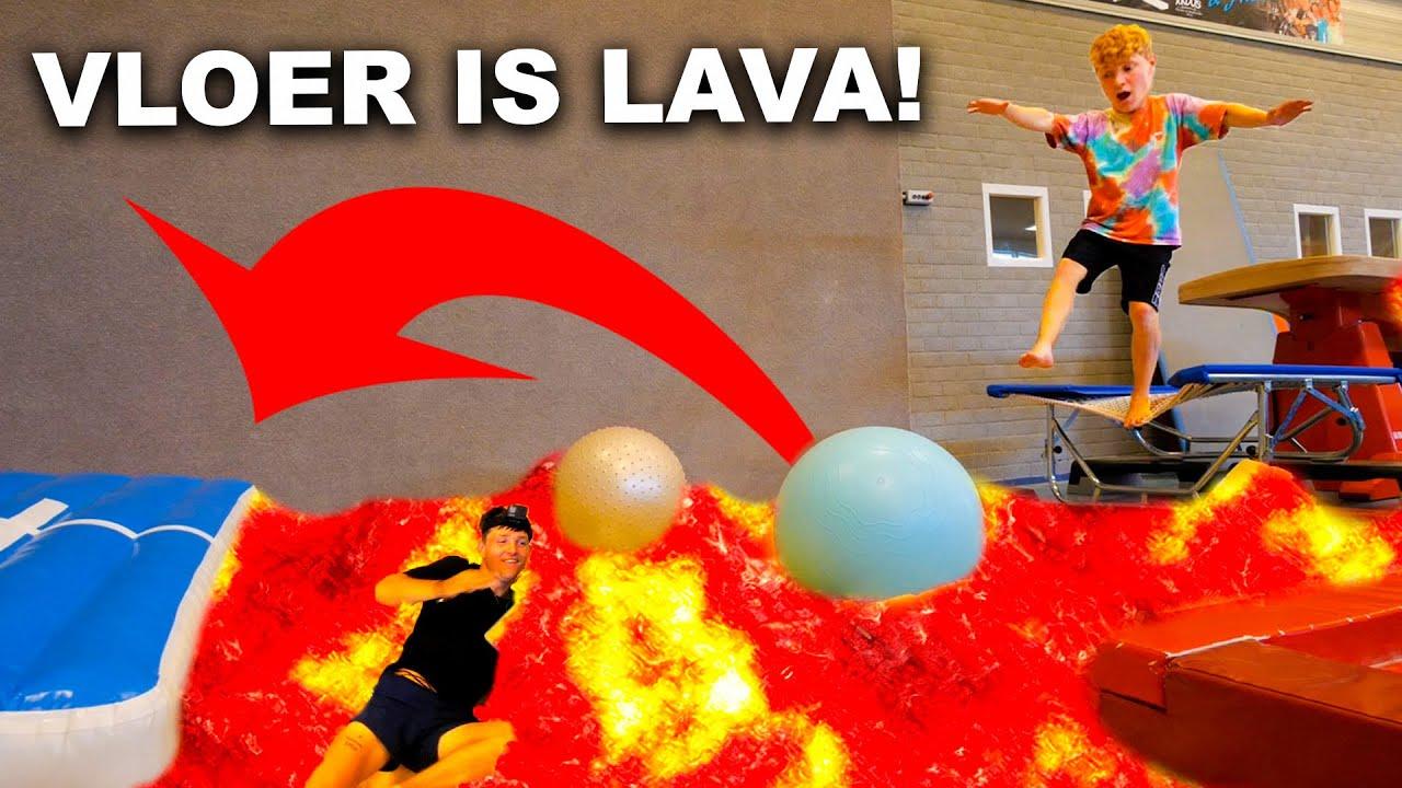 VLOER IS LAVA IN GESLOTEN TURNHAL!