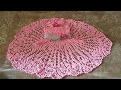 567bb9e65a194 كروشيه فستان للبنات سهل ورائع خطوة بخطوة لأي مقاس Crochet dress for girls  is easy and wonderful