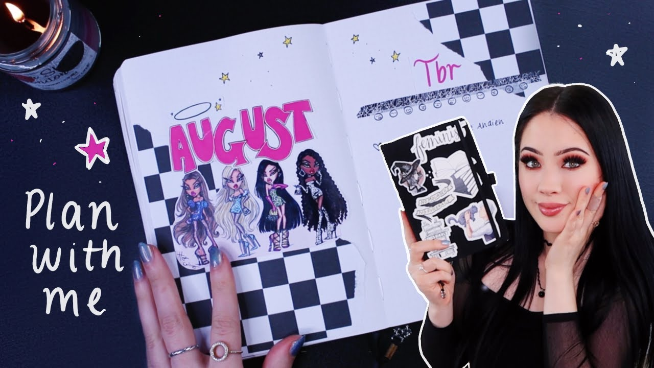 AUGUST PLAN WITH ME | bratz theme (reading bullet journal)