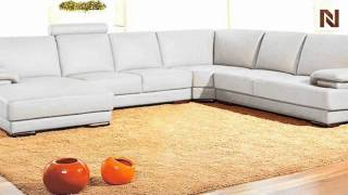 Orange Contemporary Sectional Sofa Vgev2227