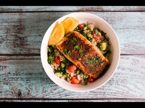 Vibrant Mediterranean Roasted Salmon and Vegetable Quinoa Bowl | TOM TO TABLE