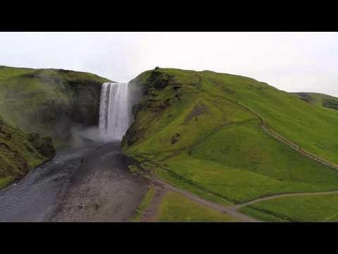 Beautiful Amazing Skogafoss Waterfall in Iceland