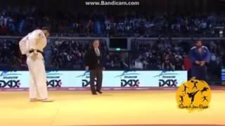 بالفيديو| لاعب منتخب الجودو أحمد وحيد يطيح يمنافسه الإسرائيلي من «الجائزة الكبرى»