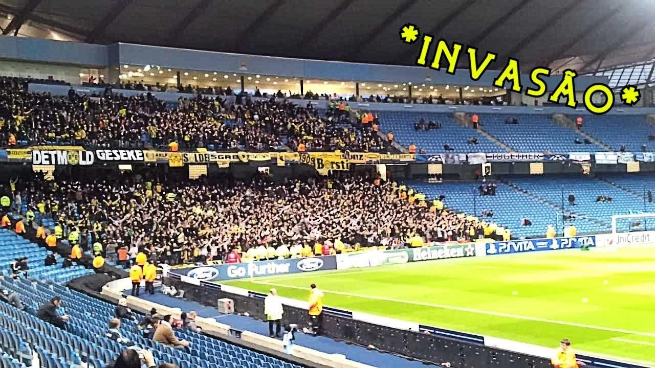 TORCIDA do Borussia Dortmund *CALANDO* estádios da PREMIER LEAGUE!
