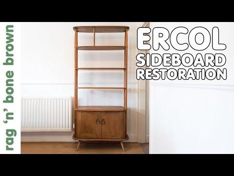 refinishing-an-ercol-giraffe-room-divider