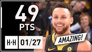 Stephen Curry AMAZING Full Highlights Warriors vs Celtics (2018.01.27) - 49 Points, CLUTCH!
