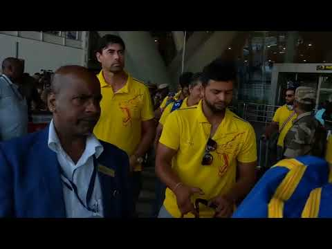 CSK team arrived at pune airport | after finished the match