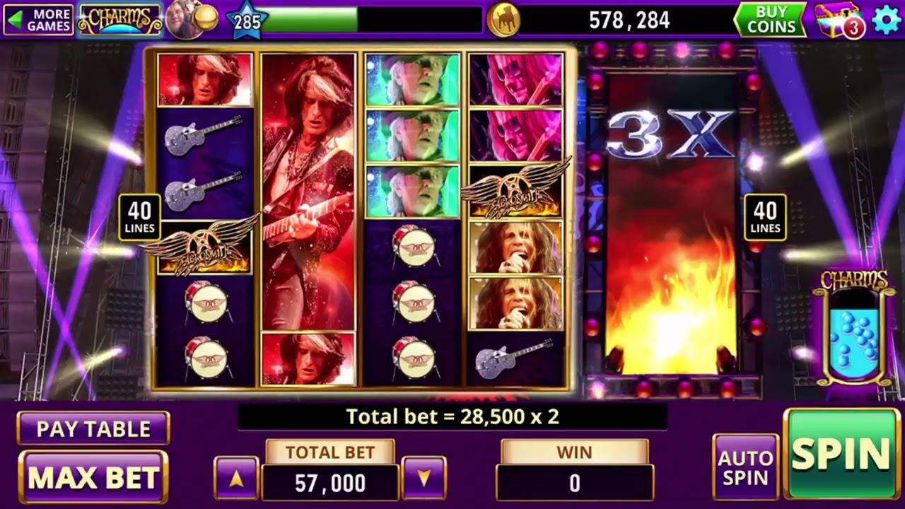 Hit It Rich Casino Aerosmith Slots Youtube