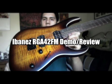 Ibanez RGA42FM Dragon Eye Burst - Demo & Review
