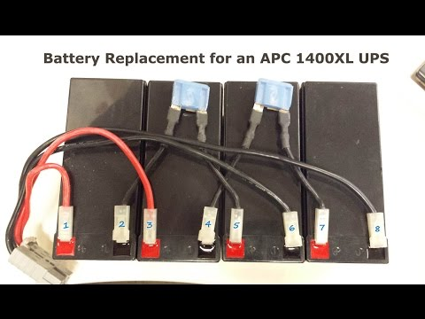 [SCHEMATICS_48IS]  How To Replace Batteries on an APC 1400XL Rack Mount UPS with Wiring Diagram  - YouTube | Ups Battery Wiring Diagram |  | YouTube