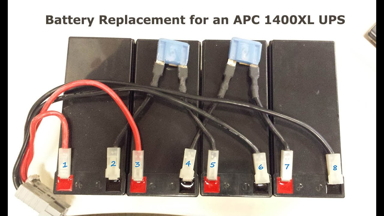 how to replace batteries on an apc 1400xl rack mount ups ... apc rbc32 battery wiring diagram apc sc450 battery wiring diagram
