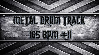 Kickass Metal Drum Track 165 BPM (HQ,HD)