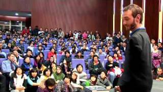 Nick Vujicic in China .. Is it a Religion or something??