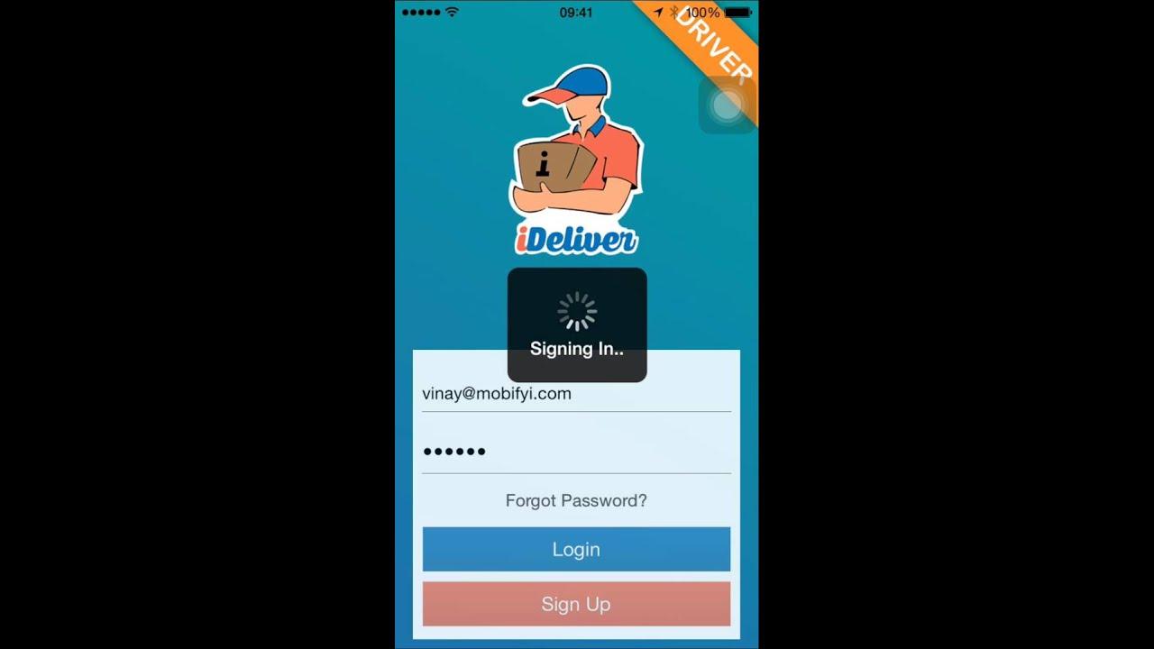 Postmates Clone - iDeliver - Driver app @ www.appscrip.com