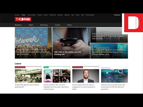 The Drum Rolls Out New Website Design