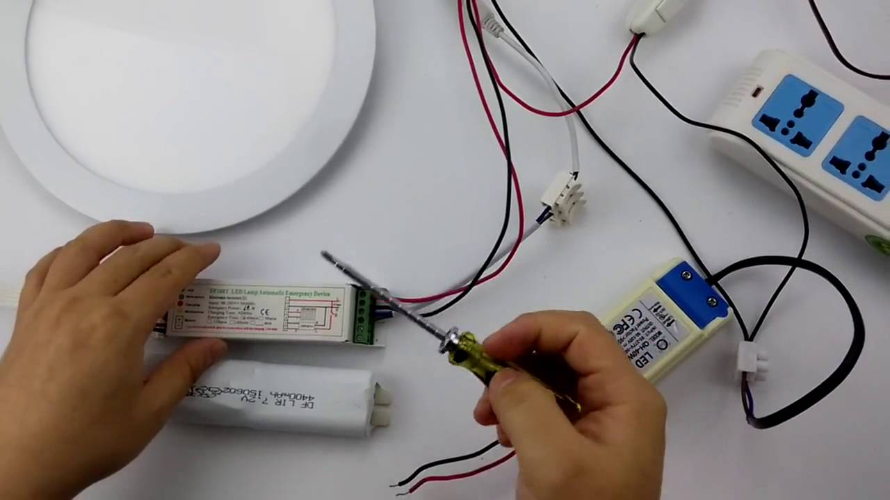 led emergency driver df168t split wiring connecting video [ 1280 x 720 Pixel ]