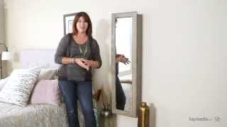 Wall Mounted Jewelry Armoire & Mirror - Driftwood - Product Review Video