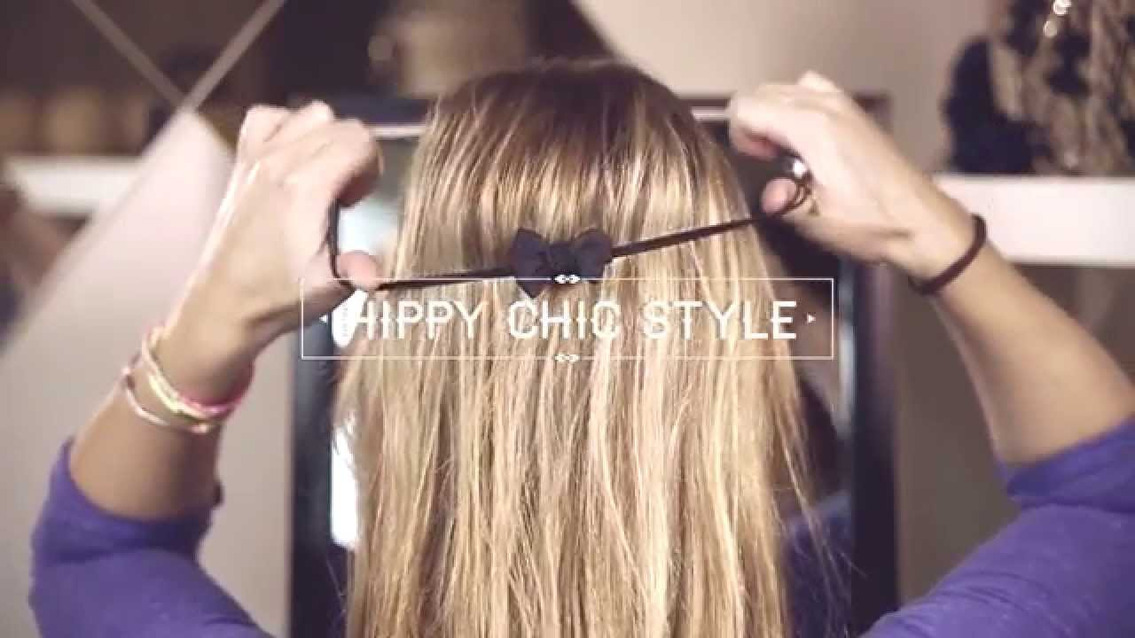 hippy chic headband style tutoriel coiffure youtube. Black Bedroom Furniture Sets. Home Design Ideas