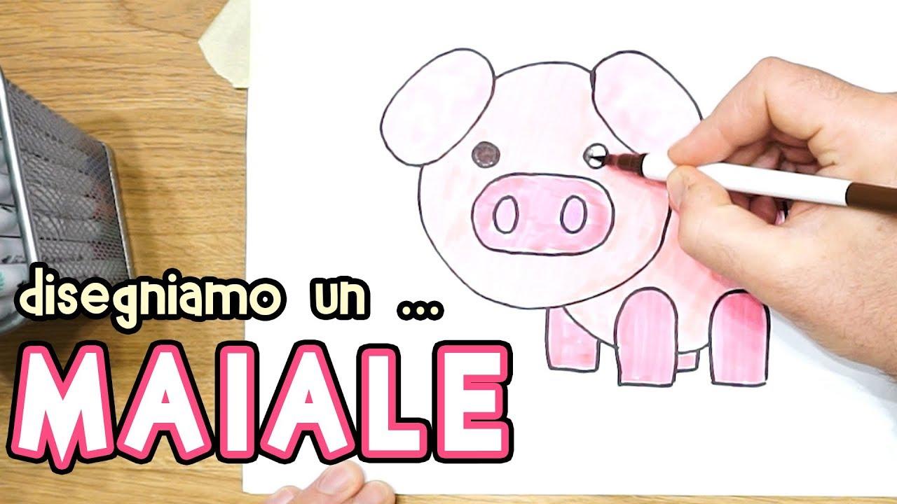 Disegnare Un Maiale Facile Per Bambini Semplice Disegno Maiale Per