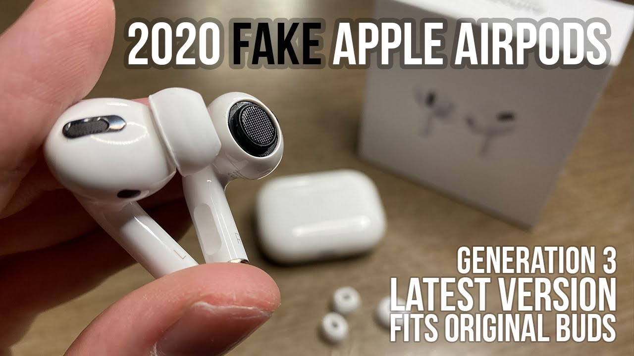 Fake Apple Airpod Pros Latest 2020 Clones Fits Original Ear