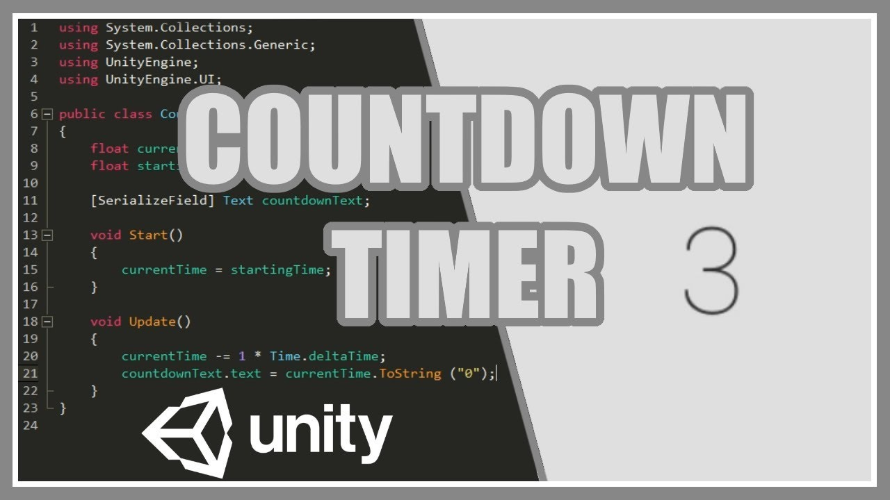 Countdown Timer In Unity - Easy Beginners Tutorial/ Guide - YouTube