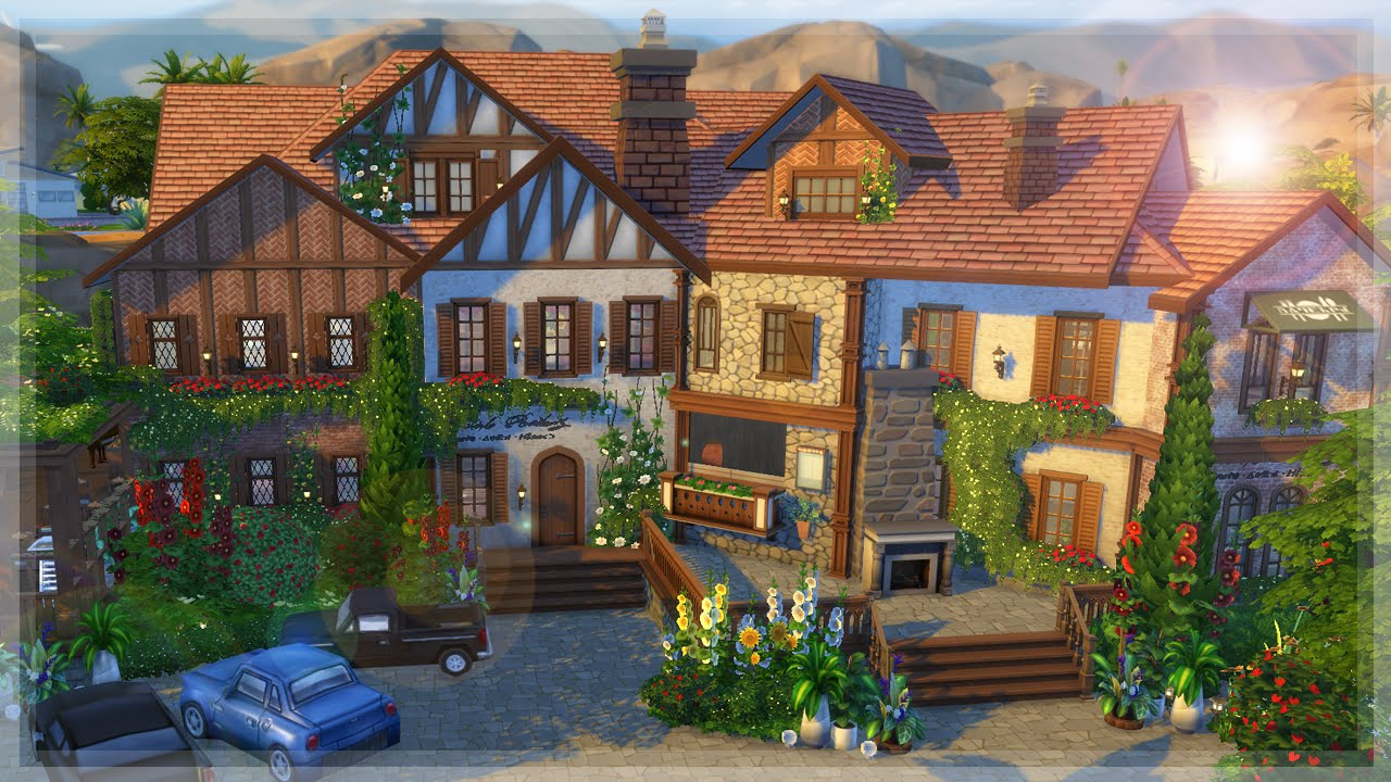 The Sims 4 Restaurant Speed Build Giardino Fresco Youtube