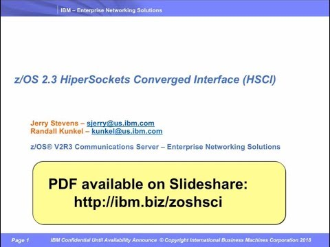 HiperSockets Converged Interface(HSCI) support