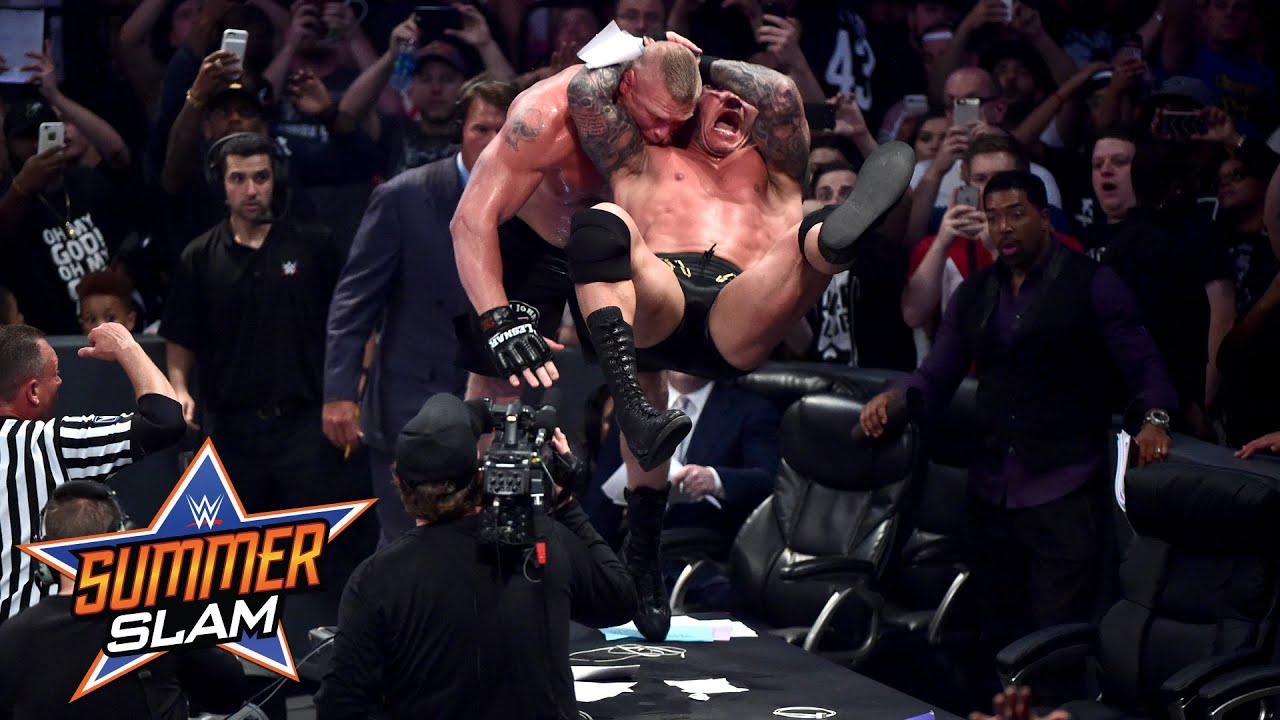 randy orton vs brock lesnar summerslam 2016 only on wwe network