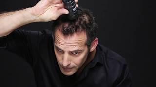 Aplicación de Fibras Capilares Toppik para cabello escaso.