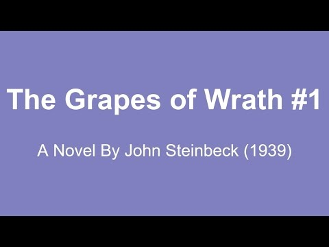 The Grapes of Wrath Audio Books - A Novel By John Steinbeck (1939) #1