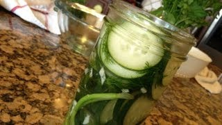How-to Make Refrigerator Pickles