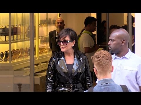 EXCLUSIVE:  Kris Jenner and boyfriend go shopping at Givenchy in Paris