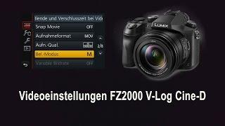 FZ2000 Cine-D Einstellungen 4K UHD - Free LUT