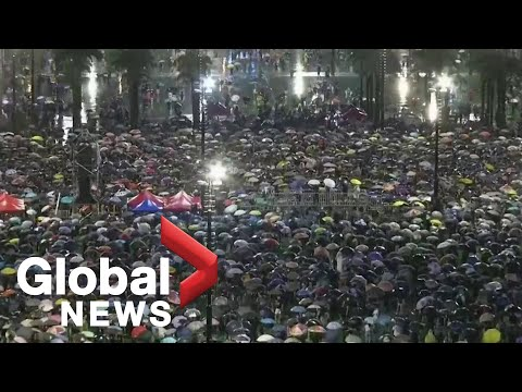 Protesters march from Victoria Park in Hong Kong, demand political reform  LIVE