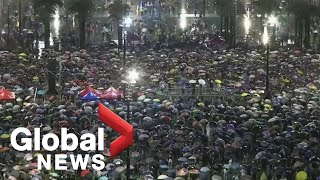 Protesters march from Victoria Park in Hong Kong, demand political reform| LIVE