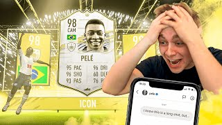 If The Footballer Replies, I Keep Their Card (IT WORKED) - Fifa 21 Pack Opening