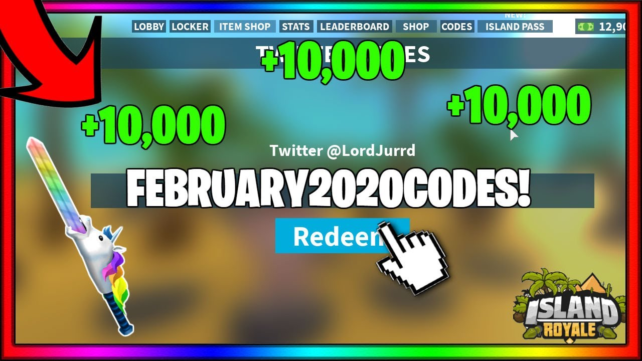 February 2020 Island Royale All Working Codes 15 500