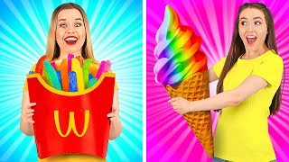 COLORFUL FOOD TRICKS ||  Cool Food Ideas And Hacks By 123GO Like!