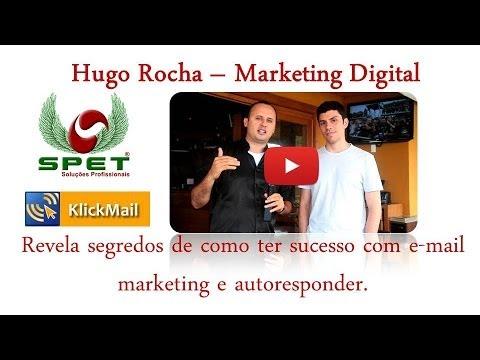 Hugo Rocha revela segredos de como ter sucesso com e-mail marketing e autoresponder.