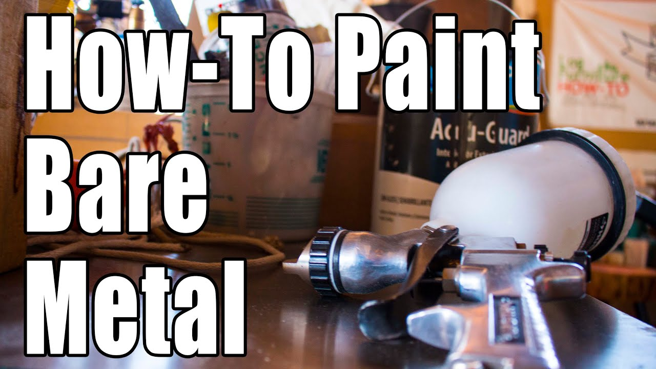 how to paint bare metal youtube. Black Bedroom Furniture Sets. Home Design Ideas