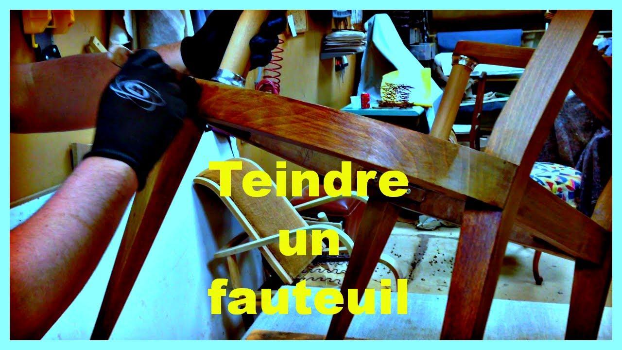 teinte d 39 un fauteuil bridge youtube. Black Bedroom Furniture Sets. Home Design Ideas