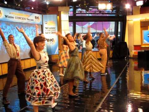 Cast of Memphis Performing on Good Morning America