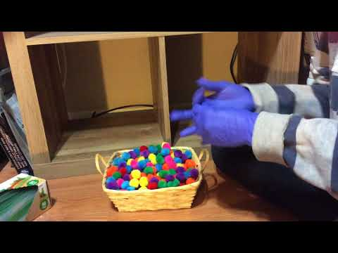 ASMR Dusting Cleaning And Organizing Craft Puff Balls (no Tapping No Talking)