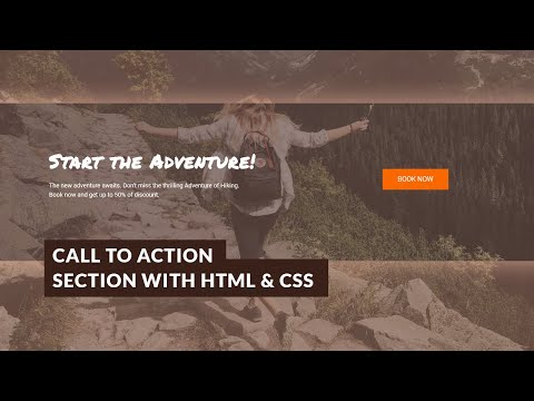 HTML & CSS Responsive Call To Action Section (Step By Step)