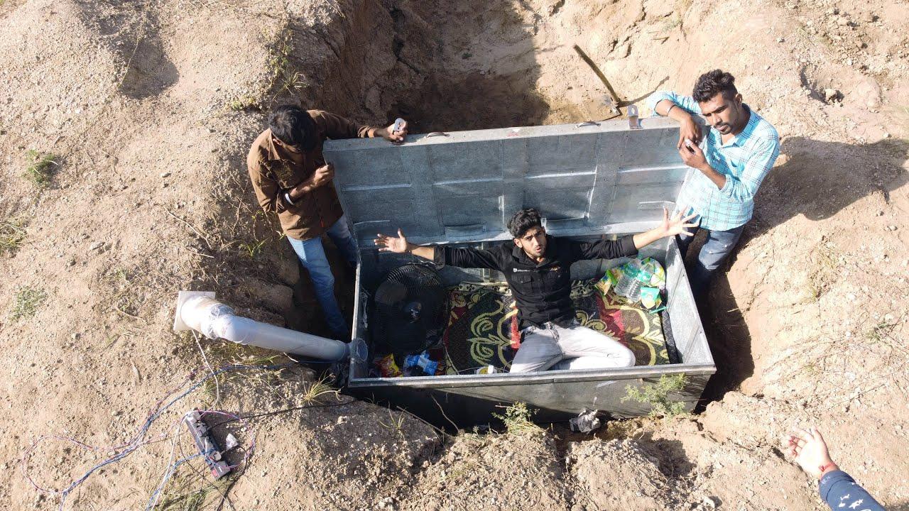 क्या में इस बॉक्स से जिंदा निकल पहुगा 😰 24 hours challenge in underground box